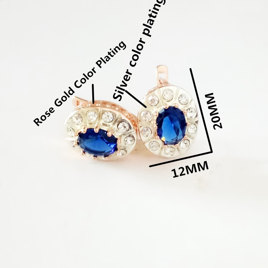 New Fashion Women Jewelry Sets 585 Rose Gold Silver Color Bridal Wedding Earring +Ring Jewelry Sets