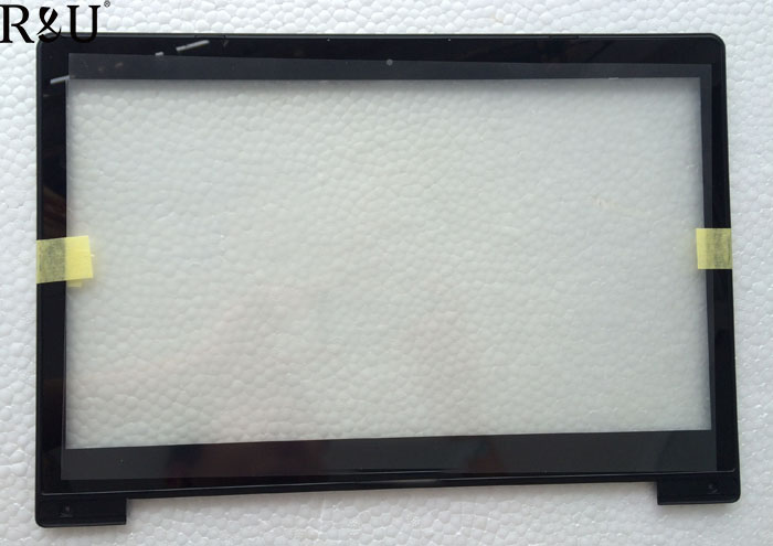 R&U new 14 Touch Screen Panel Digitizer outer Glass Lens Sensor With Frame for ASUS VivoBook S400 S400CA JA-DA5343RA version new for asus eee pad transformer prime tf201 version 1 0 touch screen glass digitizer panel tools