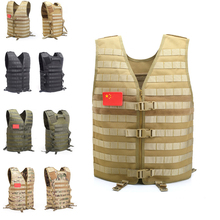 Outdoor Molle Hunting Vest Military Camouflage Tactical Vest Outdoor Jungle CS Equipment Protective Security Training Men's Vest цена 2017