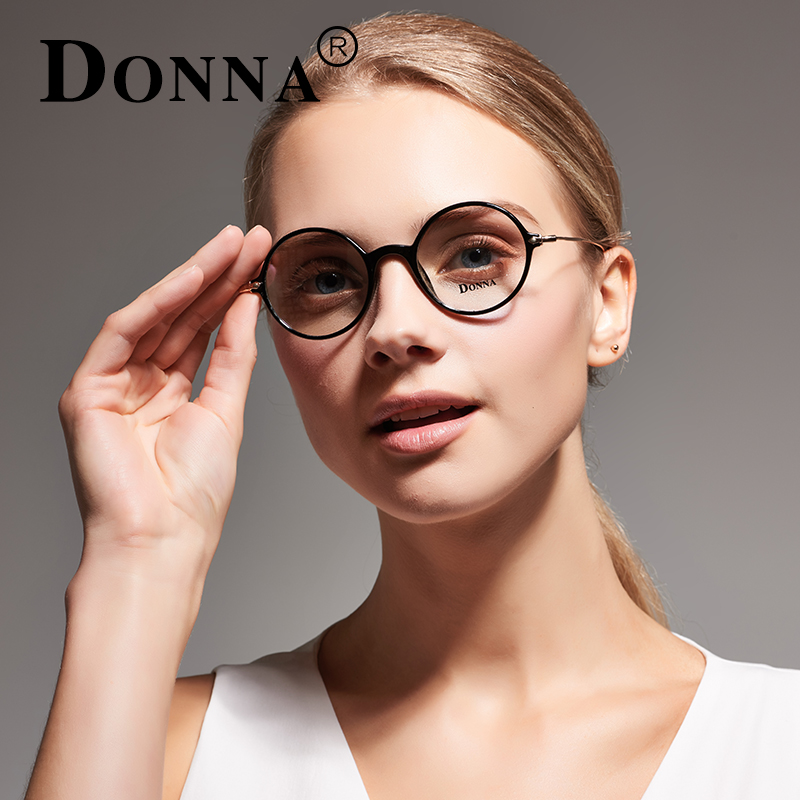 0393d4d383 Donna Vintage Round Eyeglasses Optical Men Brand Clear Lens Circle Anti  Radiation Glasses fake blue light Glasses Women DN14