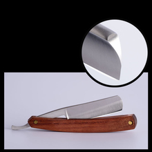 Portable Stainless Steel Straight Razor Classic Old Series Razor Facial Hair Eyebrow Beard Barber Razor Brush Finish Handmade