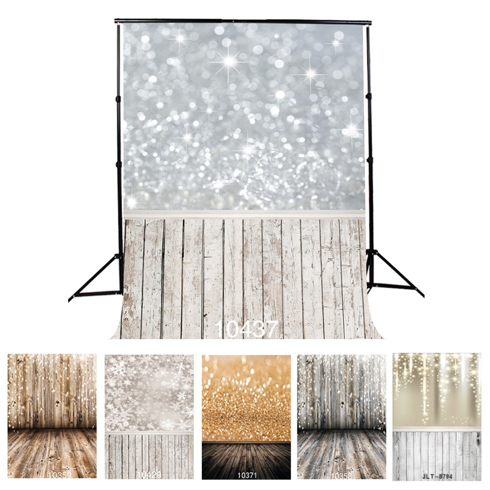 Vinyl Backdrop Photo Photographic-Background-Sliver Sparkles Fond-Studio Flooring Wedding