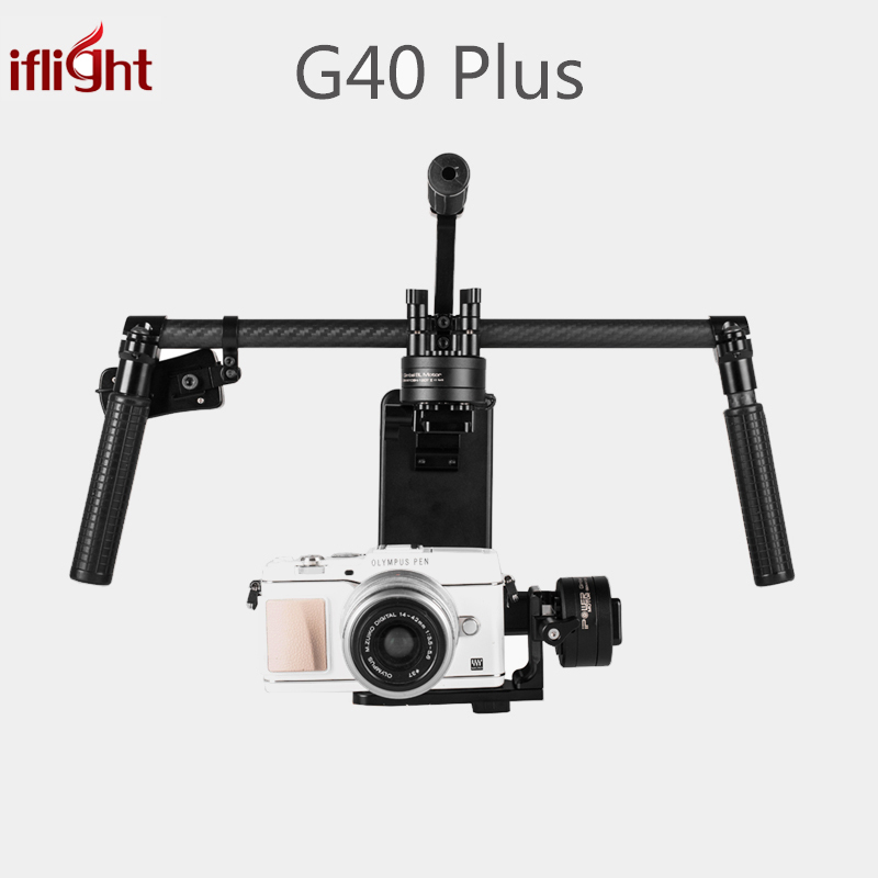 Upgraded iFlight G40 Plus 3-Axis Brushless Handheld Gimbal DSLR Camera Stabilizer for Sony A7S,GH4,BMPCC Micro SLR Camera bestablecam h4 rtf brushless handheld encoder mirrorless digital camera gimbal gyro stabilizer for gh3 gh4 a7s nex5 bmpcc