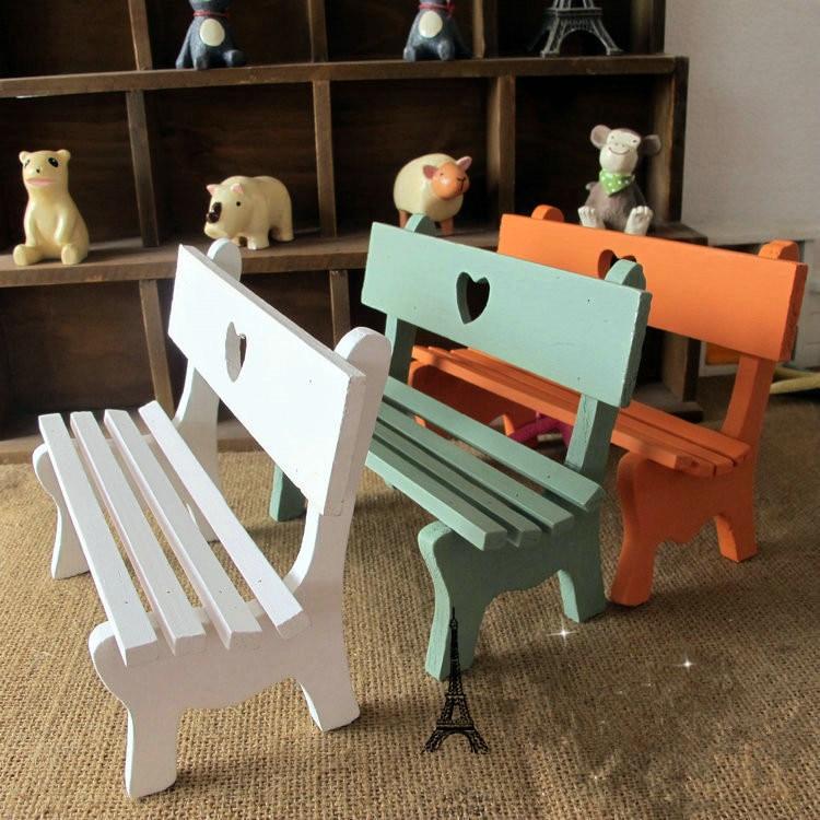 Zakka Small art Chairs 1pc Wooden Mini Chair Park Chair