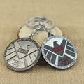Movie S.H.I.E.L.D. Shield Badge Keychain Pendant Marvel The Avengers Logo sign Jewelry Metal Key Chain Chaveiro Free Shipping