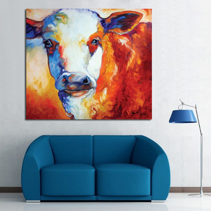 100-free-shipping-modern-abstract-art-decoration-manual-fontbred-b-font-fontbbull-b-font-animal-pain