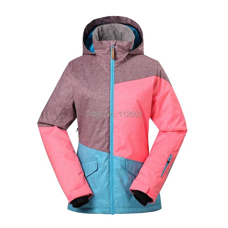 Gsou veste de ski femmes hiver extérieur imperméable veste de snowboard vêtements de ski vêtements de neige - 4
