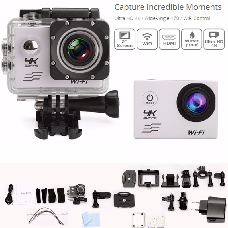 SJ8000 4K Ultra HD WiFi 2.0'' LCD Sports Action Cam 30 Waterproof Mini DV Camera dual screen lcd ultra hd wifi sports action waterproof camera 4k 25fps 12mp