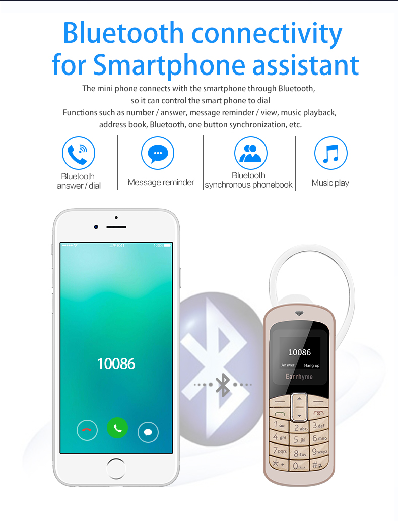 Original M9 Mobile Phone Headphone Pocket Phone Wireless Mini Bluetooth  Dial Bluetooth Headset Earphone GSM Cellphone