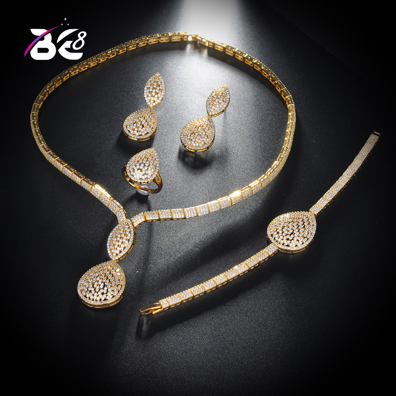 Be 8 Latest Bridal Wedding Jewelry Sets High Quality Water Drop Design Women Anniversary 4pc Jewelry Set  Bijoux Femme S151Be 8 Latest Bridal Wedding Jewelry Sets High Quality Water Drop Design Women Anniversary 4pc Jewelry Set  Bijoux Femme S151