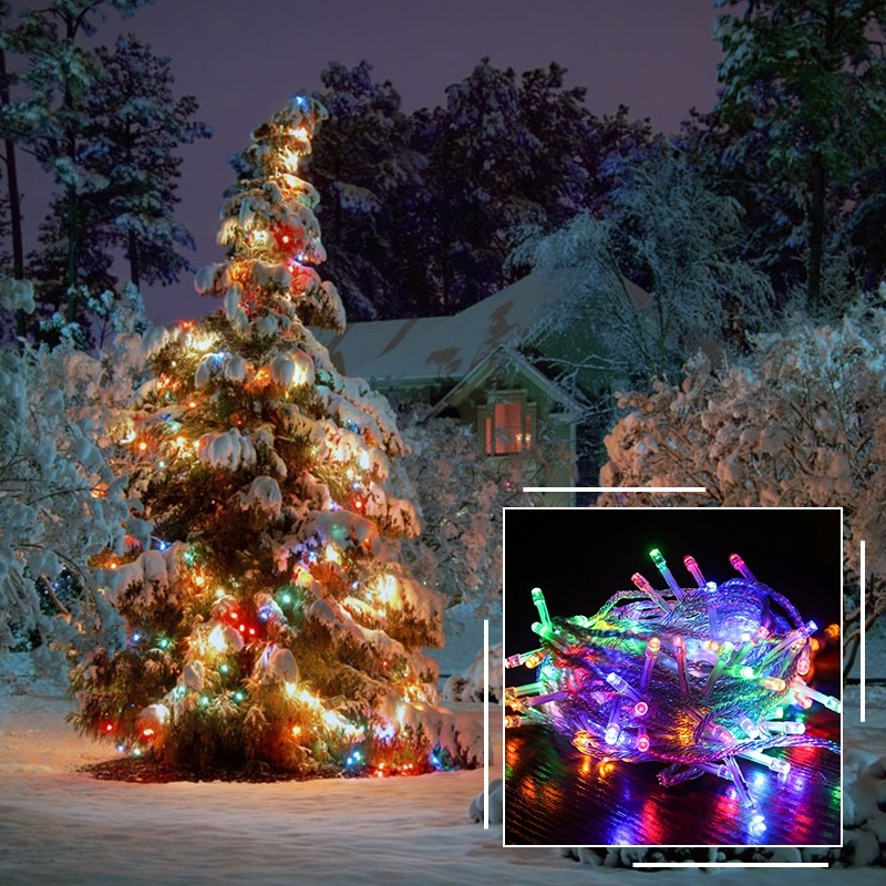 Holiday LED Copper String Light Waterproof For Garden Outdoor Party Christmas Decor 110V/220V