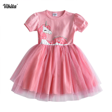 Girls dress unicorn dresses unicornio roupas infantis menina princess tutu casual vestidos baby kids girls summer clothes SH4570 стоимость