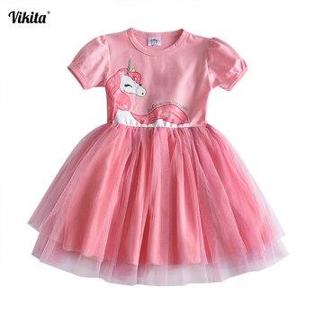 цена на Girls dress unicorn dresses unicornio roupas infantis menina princess tutu casual vestidos baby kids girls summer clothes SH4570
