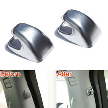 2Pcs Car Rear Back Door B Pillar Hook Base Cover Trim Caps Styling Fit For Land Rover Discovery Sport 2015