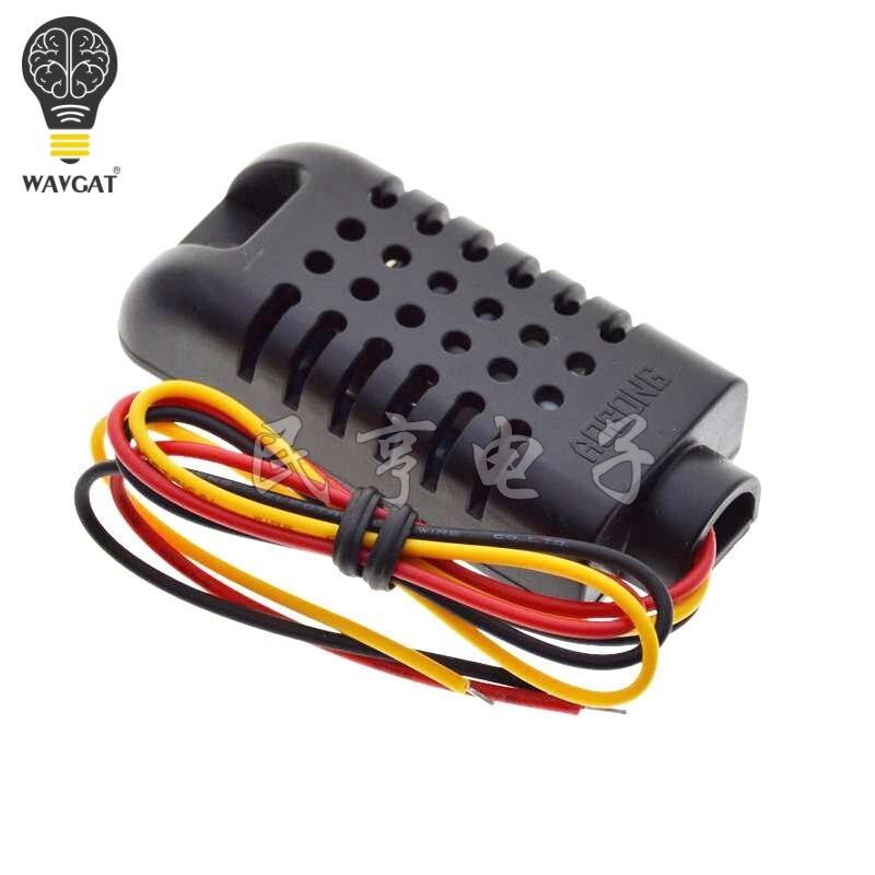 Nuevo Sensor Digital de temperatura y humedad de capacitancia DHT21 AM2301 OkeyTech Sensor de aparcamiento parktronic 4 Sensor de marcha atrás Detector de Radar LED Digital asistencia de aparcamiento sistema de alarma para todos los coches