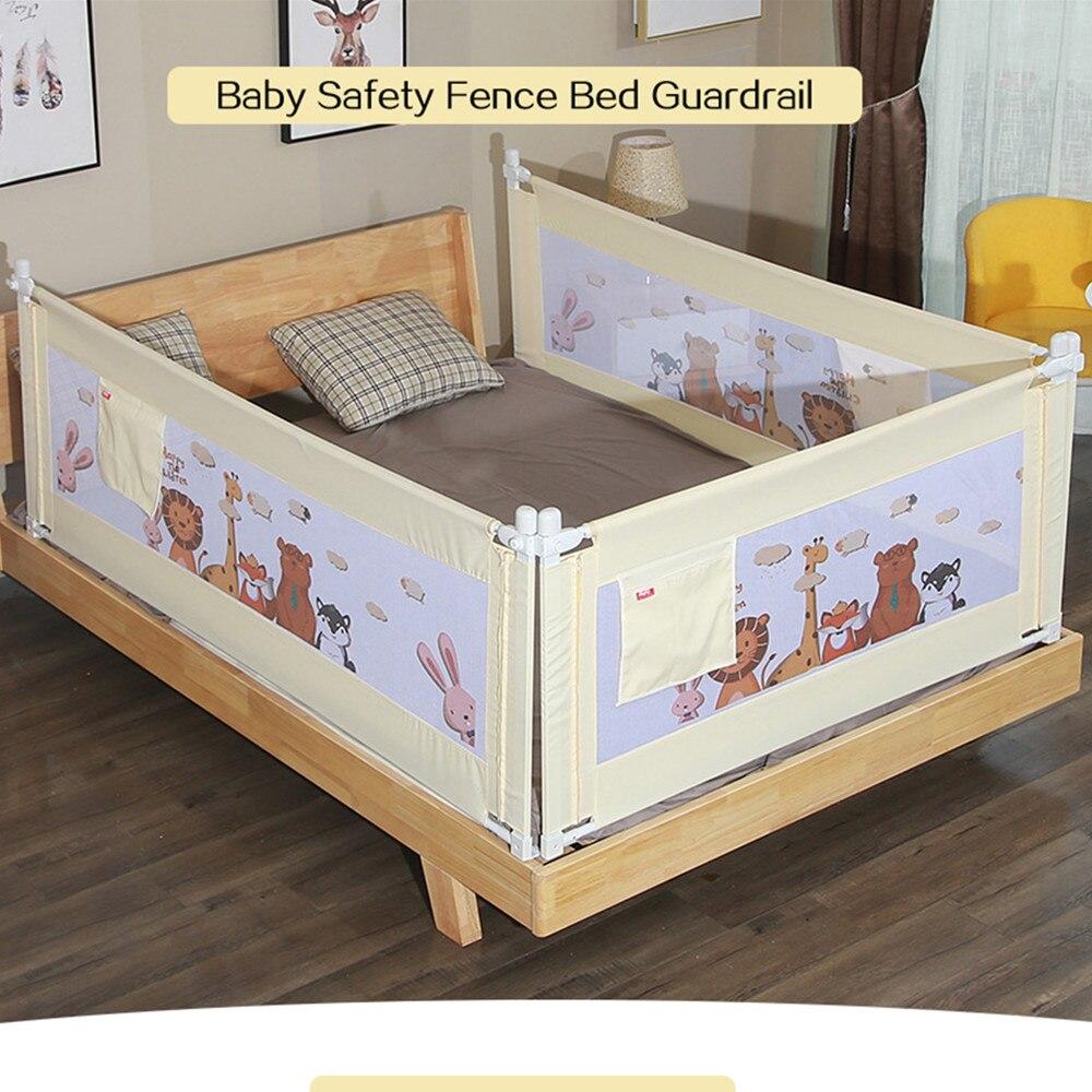 1 pc 150 ~ 200 cm dessin animé nouveau-né bébé barrière de sécurité garde réglable lit Rail infantile lit poche parc enfants lit garde-corps berceau Rail