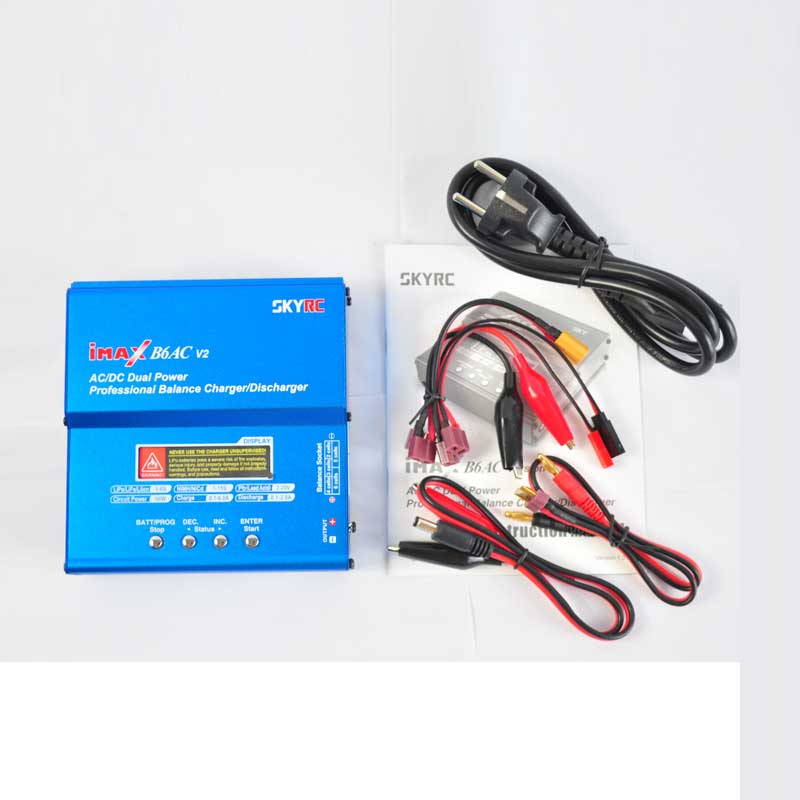 100% Original SKYRC iMAX B6AC V2 AC/DC Dual Power RC Battery Balance Charger /Discharger for LiPo/LiFe/LiIon/NiMH/NiCd цены