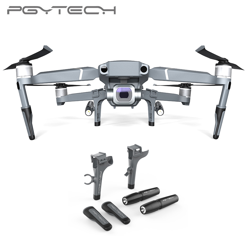 PGYTECH Landing Gear for DJI Mavic 2 Pro Zoom Extended Leg Support Protector Extension LED Headlamp