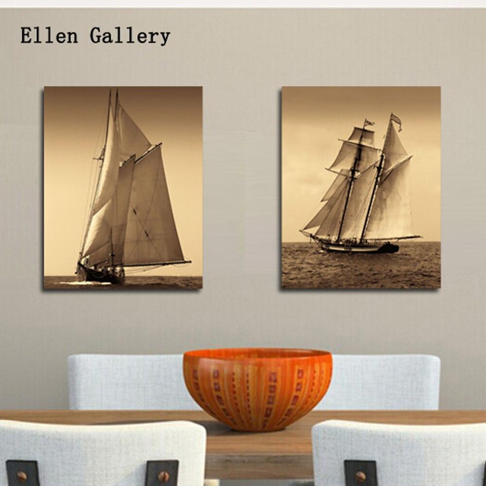 Online kopen wholesale seascape sailboat uit china seascape ...