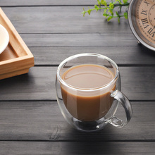 Transparent Glass Coffee Cup