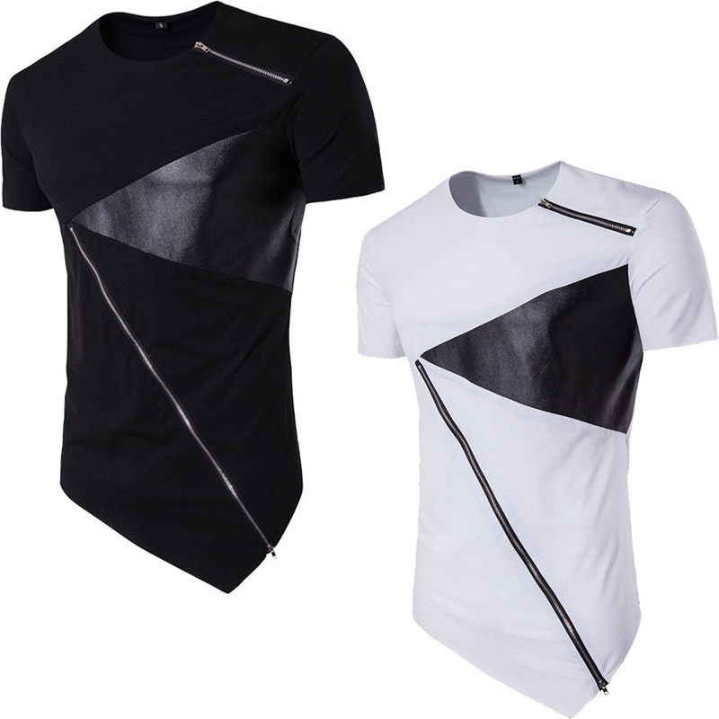 new boys fashion Vogue O neck short sleeve irregular