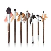 7Pcs Sets Makeup Brushes Wooden Handles Professional Facial Foundation Eye Shadow Eyeliner High Quality Makeup Brush