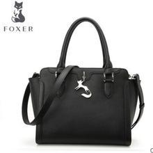2016 FOXER New Fashion Genuine Leather Handbag Women Shoulder Messenger Bags Shell bags lady handbags Free Shipping