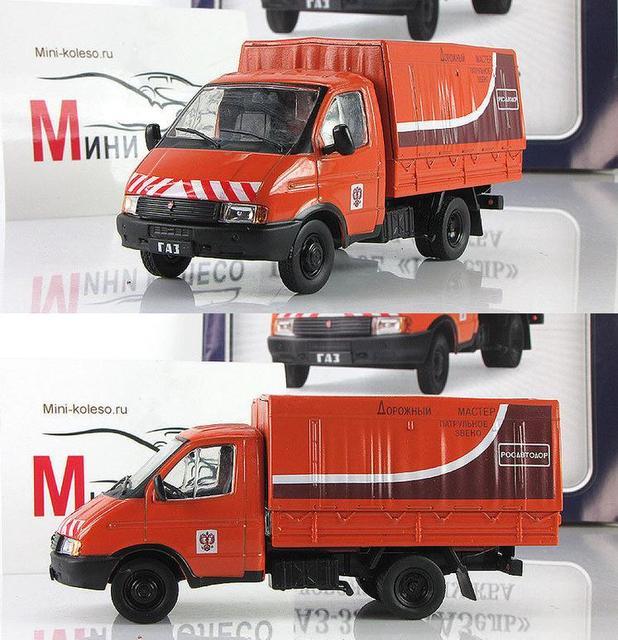 Hoge simulatie GAZ truck redding voertuig, gemeentelijke auto model, 1: 43 schaal legering techniek voertuig model speelgoed, gratis verzending
