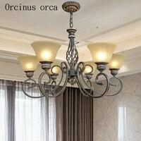 Amerikanischen stil antike glas kronleuchter wohnzimmer schlafzimmer Europäischen luxus klassische alle kupfer kronleuchter kostenloser versand