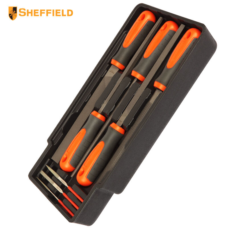SHEFFIELD S025031 8 sets of rasp combinations Machine tools File set Including flat, round, semicircle, square серьги коюз топаз серьги т101028376 01