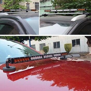 Светлая полоса 50 дюймов | Автомобильный светодиодный светильник 7, 13, 20, 26, 31, 38, 44, 50, 56 дюймов, 270 Вт, белый янтарь, комбинированный внедорожный автомобиль, внедорожник, ...