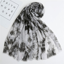 2019 New Ink Painting Print Fringe Scarves Shawl Trendy Long Ombre Print Wrap Hijab Muffler 6 Color Free Shipping недорого