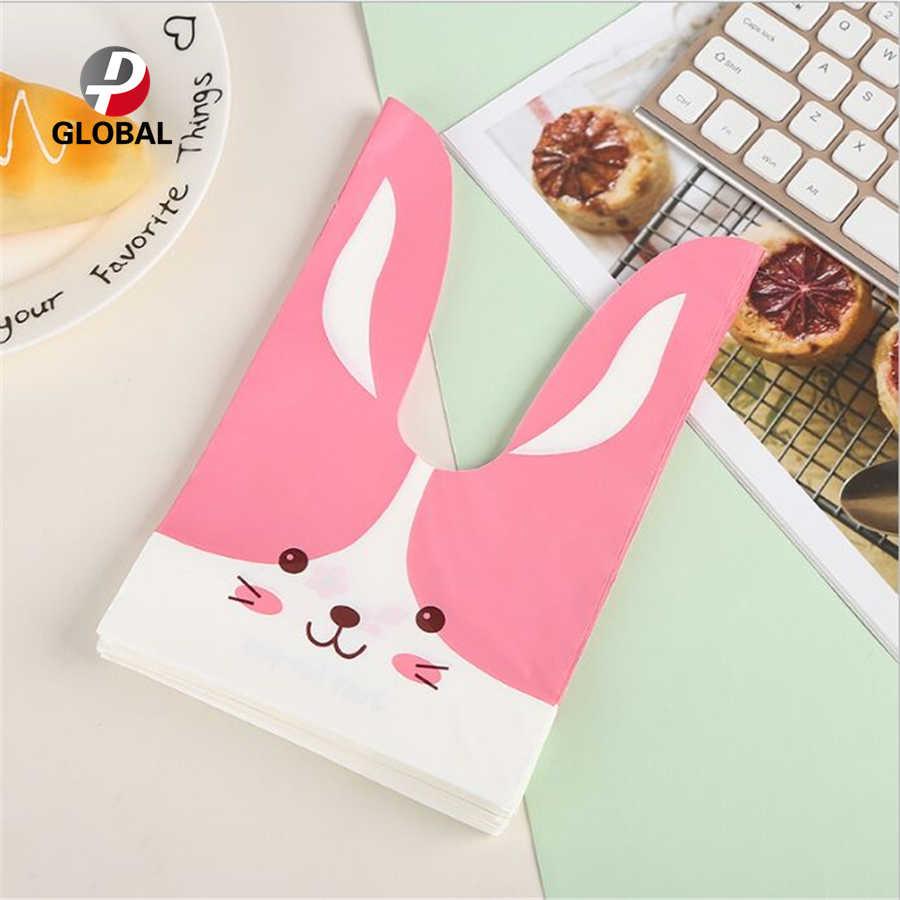 D & P 10/30pcs 13.5*22 cm מתנת תיק חמוד ארנב אוזן שקית עוגיות סוכריות ביסקוויטים חטיף אפיית חבילה חתונה טובה מתנות