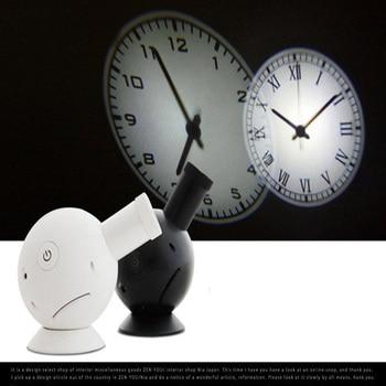 Hot sale circular projection modern wall clock  Rome Arabia digital needle with backlight luminova mechanical plastic WITFAMILY
