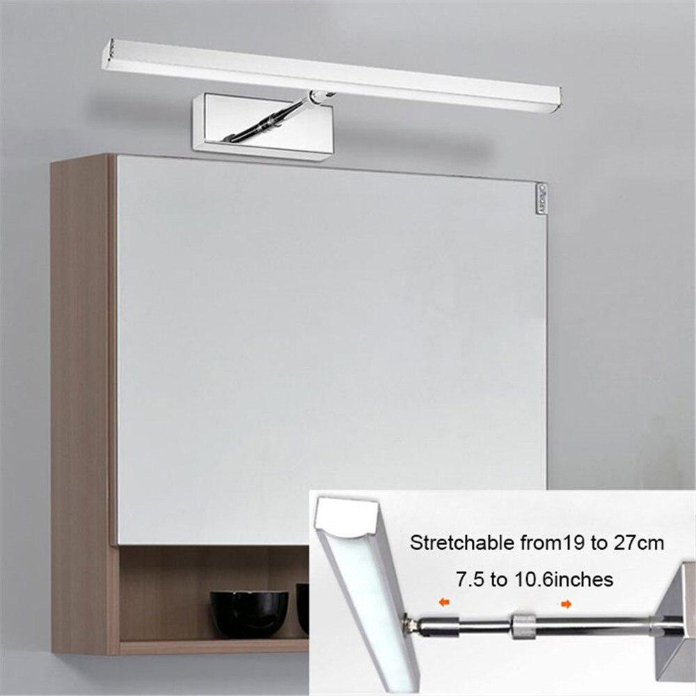 L39cm 49 Cm 59 Cm LED Schrank Licht 19 Cm Zu 27 Cm Dehnbar Arm Für Schränke  Lampe LED Flexible Bad Spiegel Lichter Eitelkeit Wand