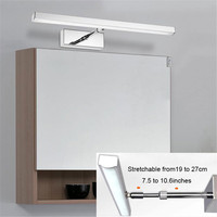 L39cm 49cm 59cm LED cabinet light 19cm to 27cm stretchable arm for cabinets lamp LED flexible bathroom mirror lights vanity wall