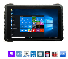 "China Industrial Robusto de Toque do Tablet PC do Windows 10 Pro 10.1 ""Leitor de Impressão Digital resistente À Prova D Água Telefone Android 4G LTE toughbook"