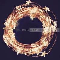 33Ft 100LED Estrella de Alambre De Cobre Luces LED De Hadas de Navidad Luces de la Boda Luces decoración 12 V DC Adaptador de Corriente Incluido