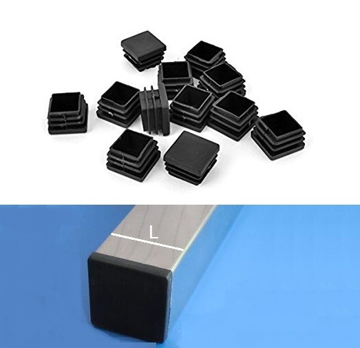 32Pcs/Lot Black Plastic Square Tubing Tube Insert Plug End