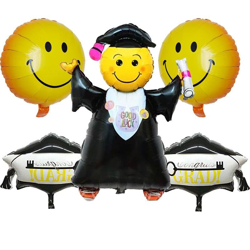 5 قطعةالوحدة حظا سعيدا تخرج طبيب احباط بالونات التخرج حفل