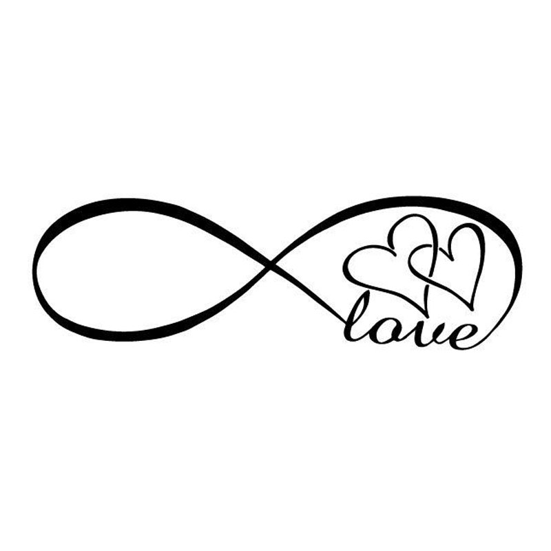 20X6.3CM Infinity Love Double Heart Originality Vinyl Decal Motorcycle Car Sticker S8-0187