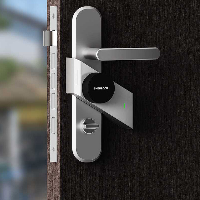 Sherlock Fingerprint + Password Smart Door Lock Wireless Bluetooth Integrated Electronic Lock App Phone Contorl Add 2Pcs S2 Key