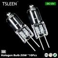 TSLEEN 10x DC 12 V 20 W Lâmpadas de Halogéneo G4 Warm White Celling Lâmpada Armário de Mesa Ao Ar Livre lâmpada de Luz halógena