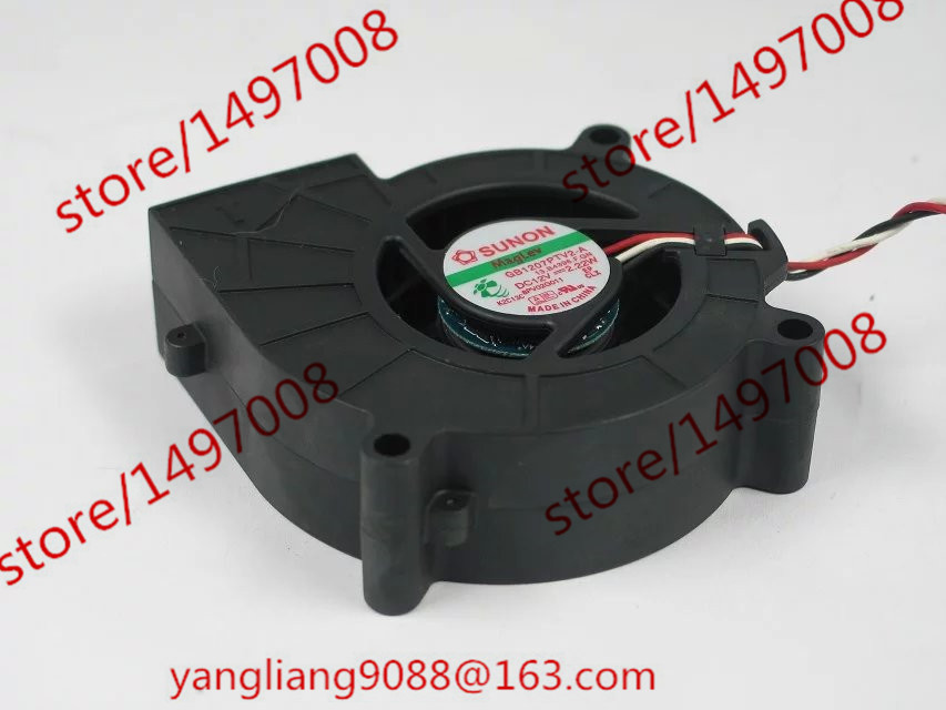 Free shipping For SUNON GB1207PTV2-A, 13.B4396.F.GN DC 12V 2.2W 3-wire 3-pin connector 70mm 70x70x25mm Server Square Cooling Fan free shipping for sunon kd1212pmb1 6a dc 12v 6 8w 3 wire 3 pin connector 110mm 120x120x38mm server square fan