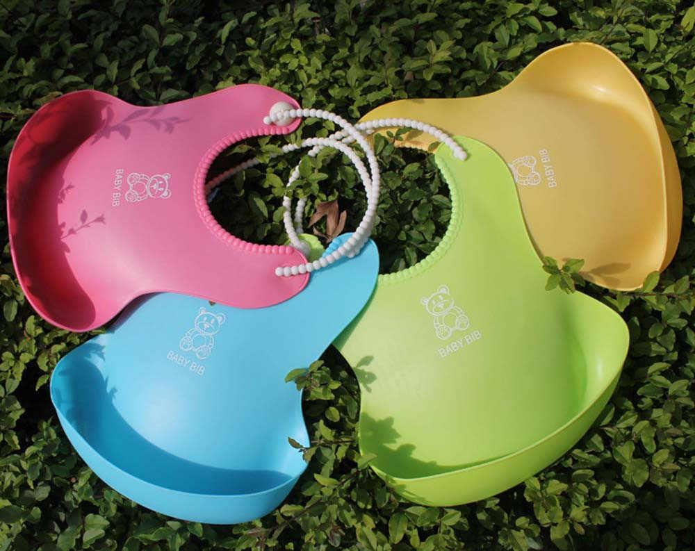 Bavoirs bébé détachable enfants garçons filles solide imperméable alimentation tablier salive serviette bavoir Smock babero plastico accessoires C @ 40