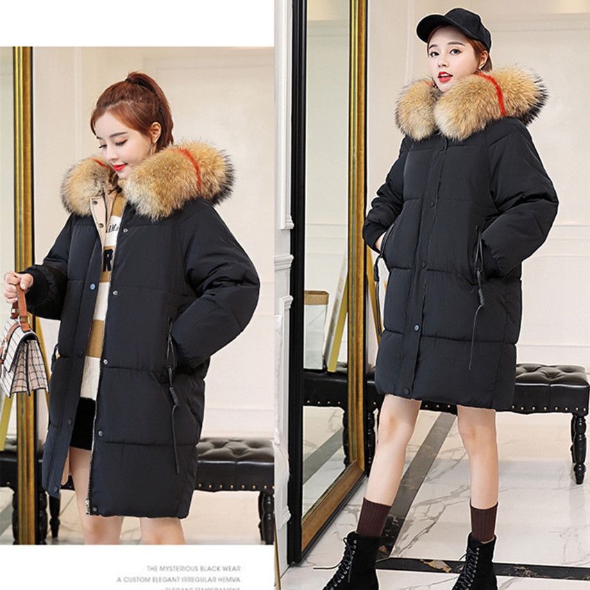 S-2XL Women Casual Cotton Down Jacket Autumn Winter Hoodie   Parkas   Clothes Warm Female Fashion Korean OL Coat 021-1510MC12