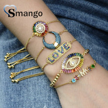 5Pieces 2019 New Arrival! The Rainbow Series, The Eyes Shape Bracelet,4 Colors,Can Wholesale