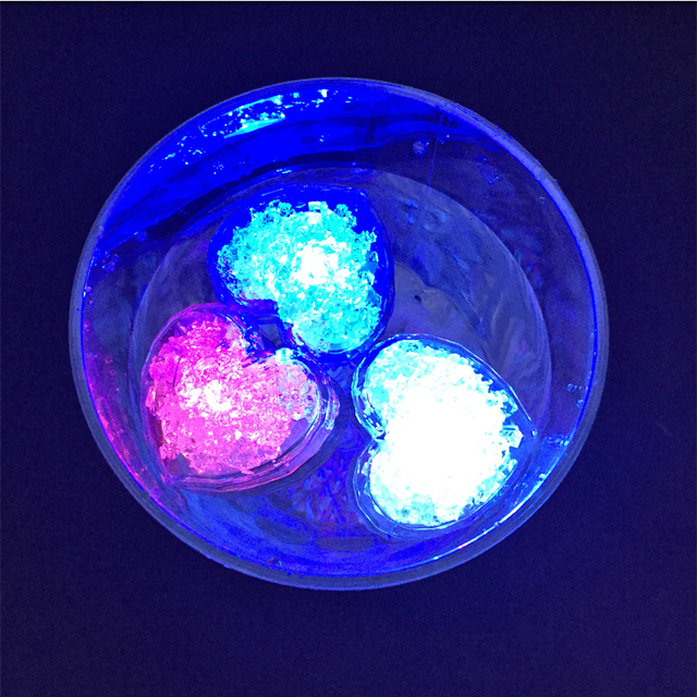 diy colorful flash led ice cubes wedding festival party decor props