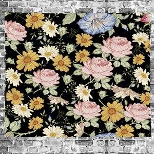 Image 4 - Estilo nórdico Verão flor tropical banana macrame Tapeçaria Do Vintage Retro Poliéster rose Tapeçaria home decor GN. MAMÃO