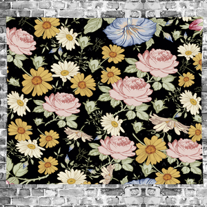 Image 4 - Nordic Style Summer tropical flower plantain macrame Tapestry Vintage Retro Polyester rose Wall Hanging home decor GN.PAPAYA